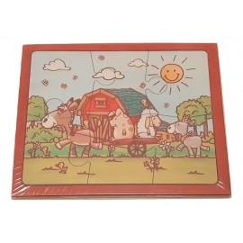 Puzzle en bois fabriqué par un ESAT ,puzzle animaux de la ferme