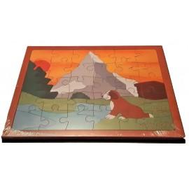 puzzle fabriqué en Suisse, puzzle Mont Cervin,symbole suisse, 30 pièces