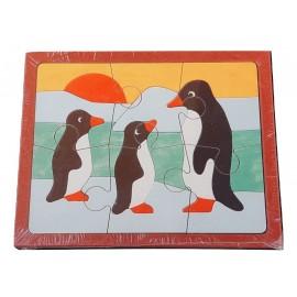Puzzle pingouin 6 pièces, puzzle 24 mois,puzzle 2 ans