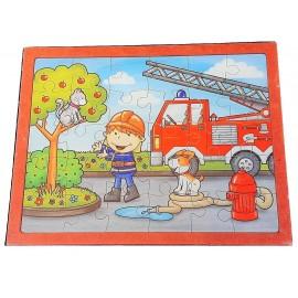 puzzle 30 pièces pompier