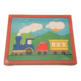 puzzle en bois convoi train 6 pièces