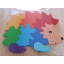 Photo puzzle hérisson, composé de 9 pièces