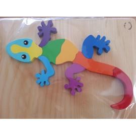puzzle en bois artisanat 9 pièces salamandre