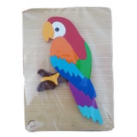 puzzle en bois perroquet