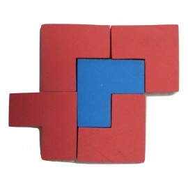 Assemblage de 5 pièces en forme de L du jeu de stratégie Imbrix