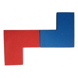 Positionnement 2 pièces interdites dans le jeu Imbrix par la pointe des L