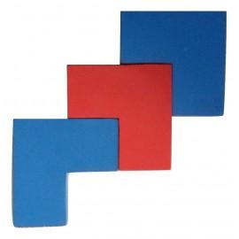 Positionnement correct des pièces  en forme de L.