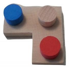 Positionnement des pions puissance 4 dans le jeu de stratégie Imbrix