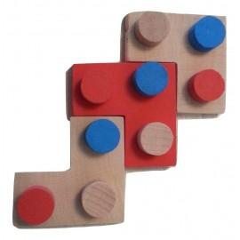 Position acceptée pour 3 pièces en forme de L puissance 4 Imbrix