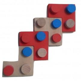 Position validée pour quatre pièces dans le jeu puissance 4 Imbrix