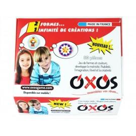 Photos de la boite standard du jeu de construction Oxos Game, 80 pièces.