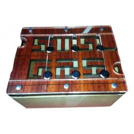 Boite casse tête labyrinthe en bois