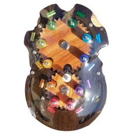 Casse tête en Bois et en métal: Tourne les boutons