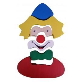 puzzle 3D clown vertical et horizontal