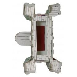 vue dessus kit loisir créatif château fort