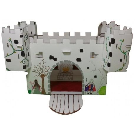 photo vue d'ensemble du kit de loisir créatif  château fort décoré