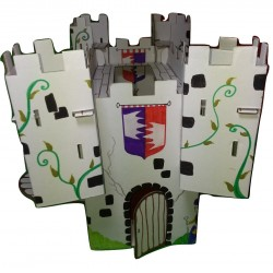 vue d'ensemble  du kit de loisir créatif château fort monté et décoré