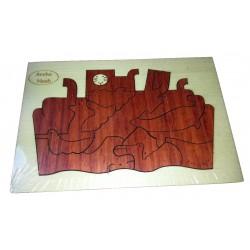 Puzzle Arche Noé clair (casse tête fabriqué en et en métal)