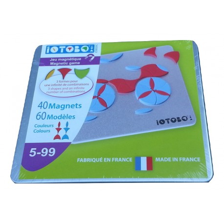 IOTOBO  Magnetic Mosaic rouge bleu