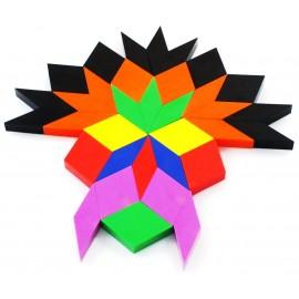 Exemple modèle réalisation masque multicolore oxos game