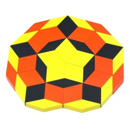 Exemple de réalisation Oxos Game Escher effet d'optique, rosace.
