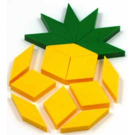 fruit ananas réalisation oxos game couleur jaune et vert
