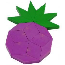 réalisation raisin jeu oxos game, couleurs des losanges violets et verts